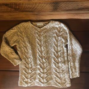 J.Jill Petite chunky cable knit sweater